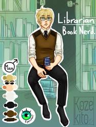 CLOSED Adoptable - Librarian/Book Nerd