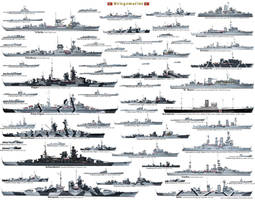 Germany Navy ship list WW2 by Deepskyer