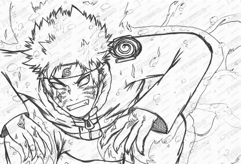 Naruto - Kyuubi Mode - Sketch by Jyuugo