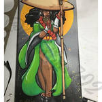 Afro Monk painting 3