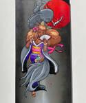 Black Koi painting
