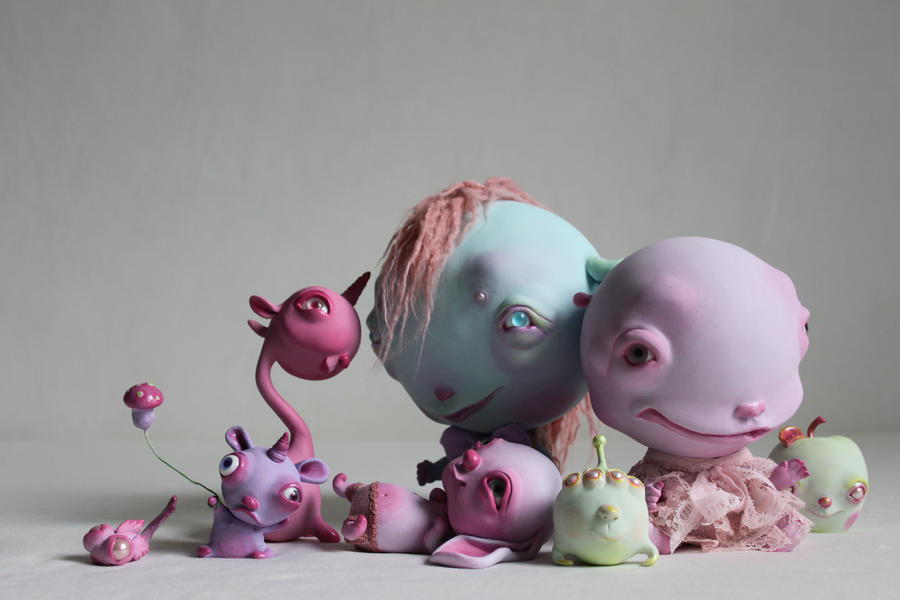 bubble people by Horriblesweet