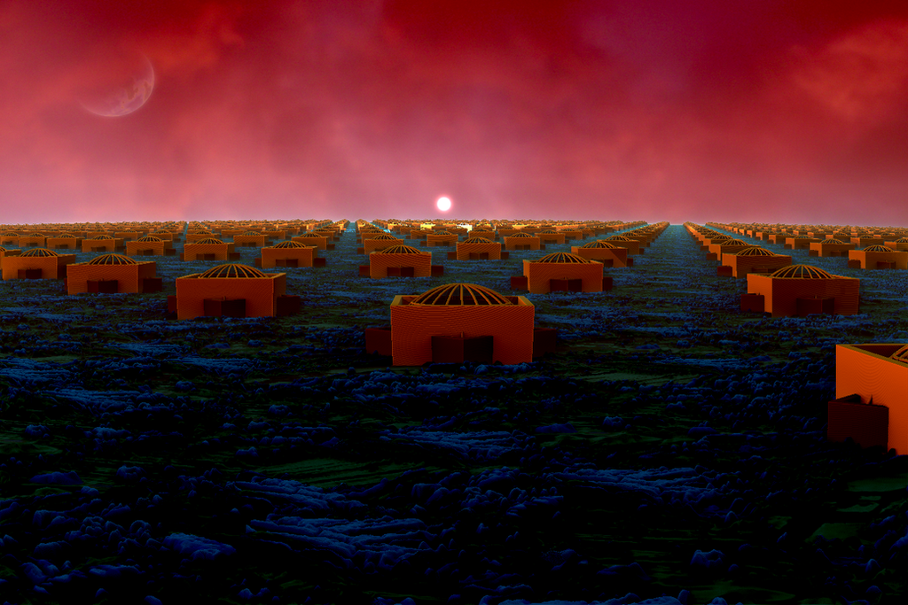 town on planet Kitrinos by tsahel