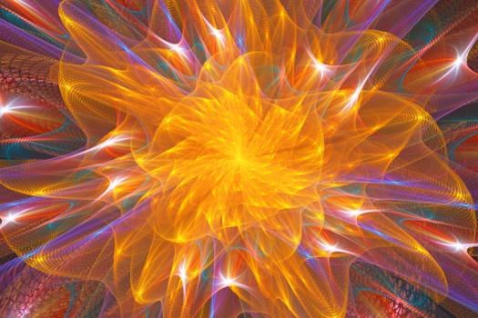 a flower in the fractal garden