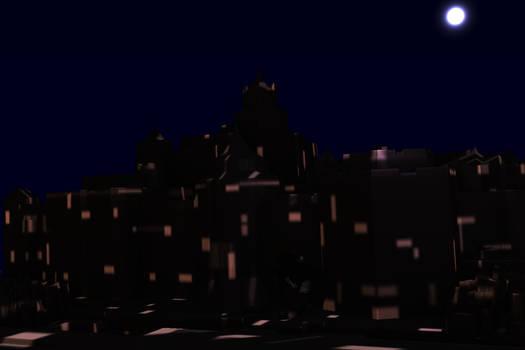 light show on the castle