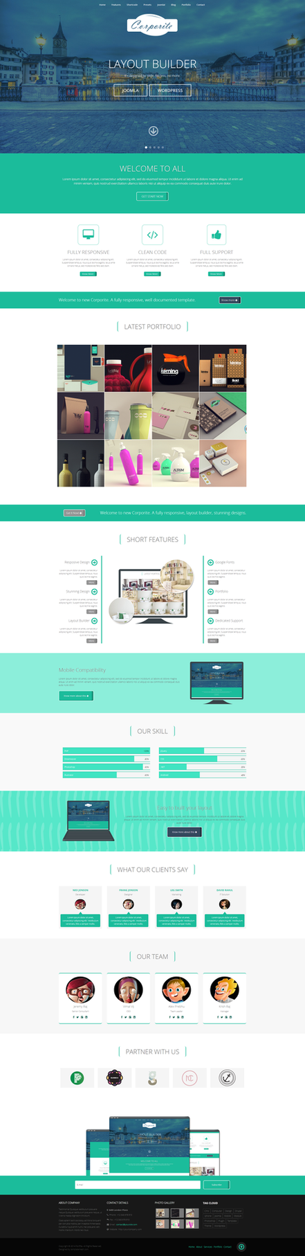 Corporite Professional Creative Joomla 3 Template By