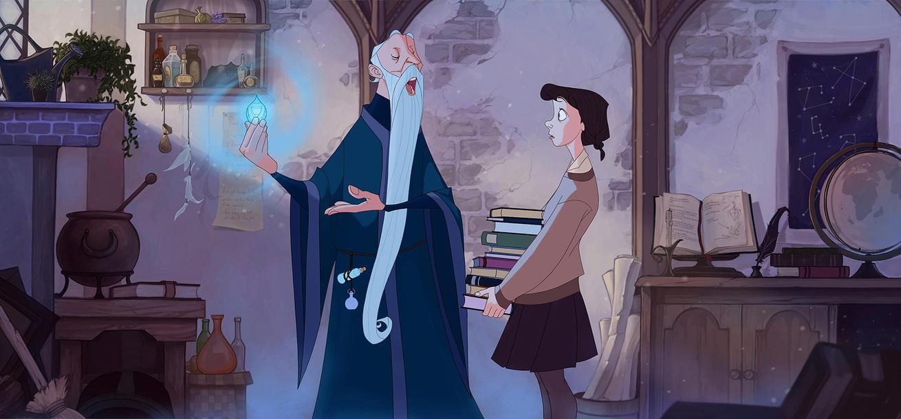 Merlin teaches Eira about magic by TansaKourti