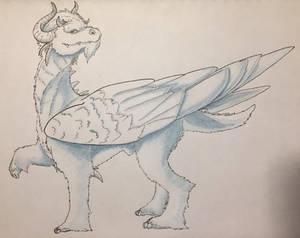 Tundra Dragon by EKnottedDragon