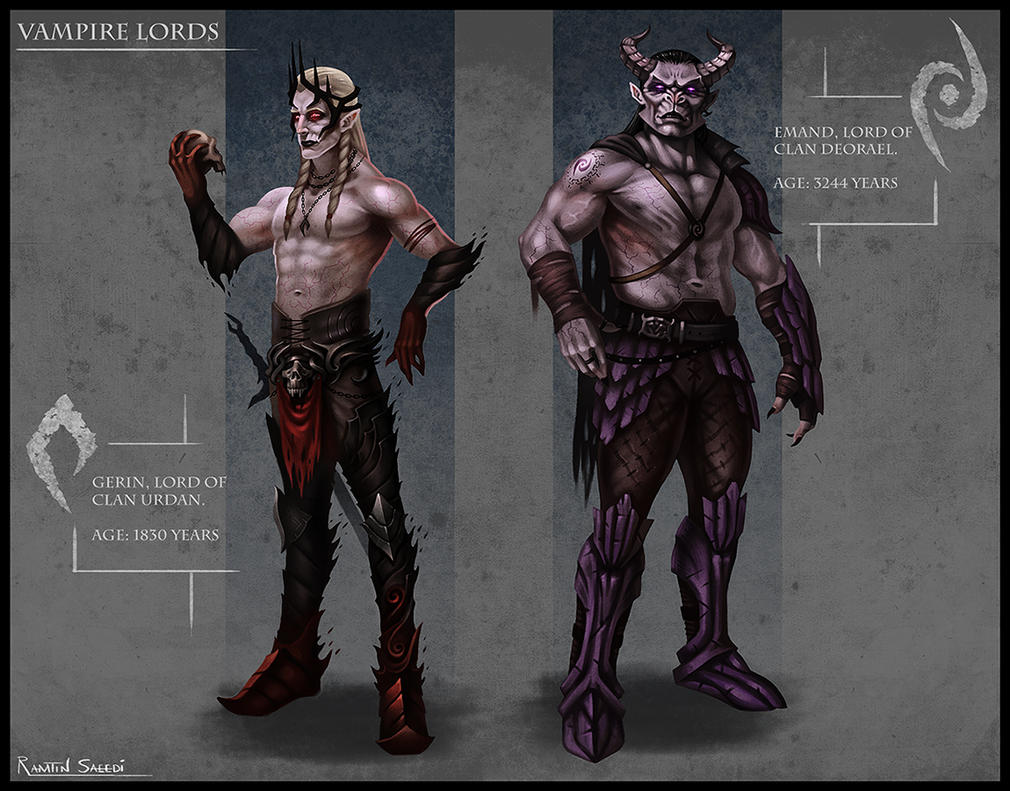 Character Design Challenge Vampire : Vampire lords character design by ramtin s on deviantart