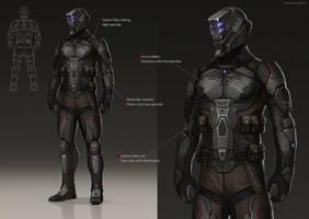 Dark biker Character Design by ramtin-s