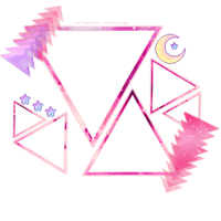 Triangles Frame Pink by Pandora-Poochyena