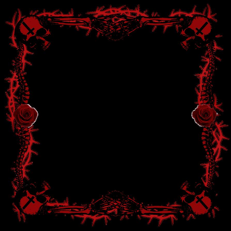 Skull Frame by Pandora-Poochyena on DeviantArt