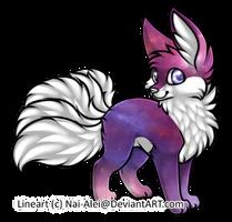 Points Adopt #003 Nebula Kitsune (CLOSED) by SkeleScene