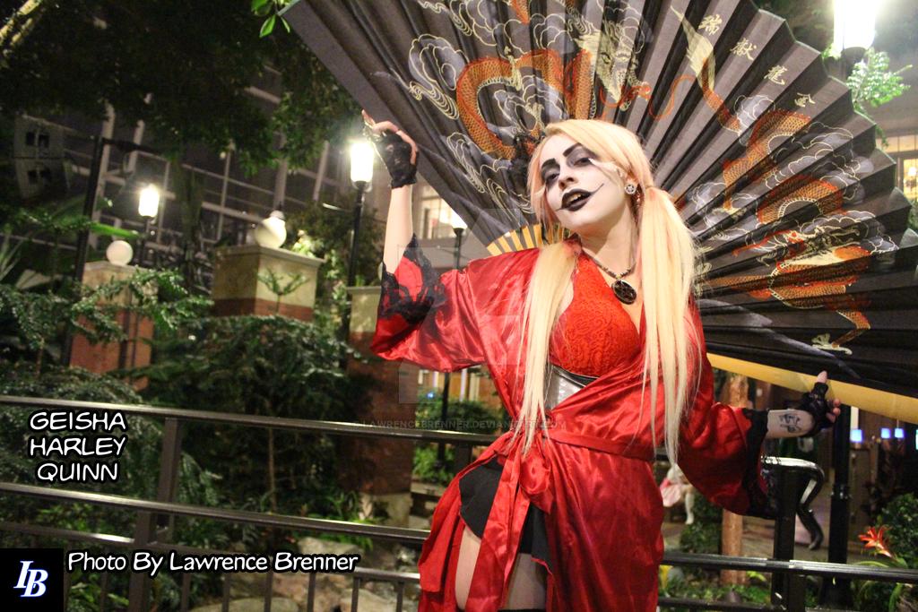 Geisha Harley Quinn by lawrencebrenner