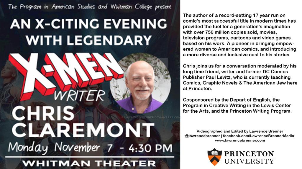Chris Claremont X-Men Talk at Princeton by lawrencebrenner