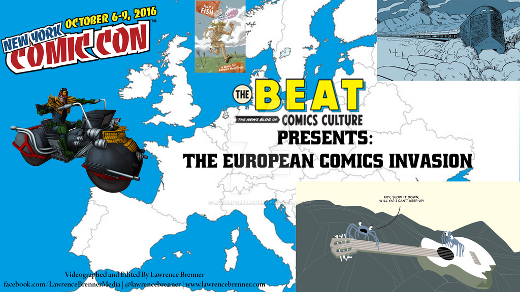 European Comics Invasion by lawrencebrenner