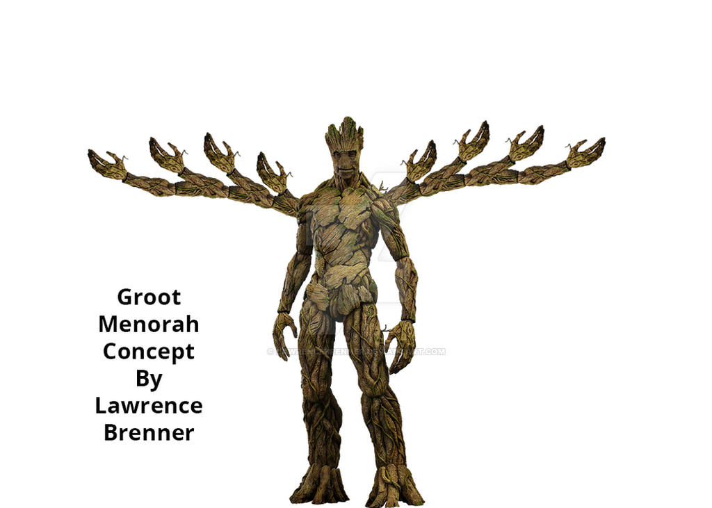 Groot Menorah Concept by lawrencebrenner