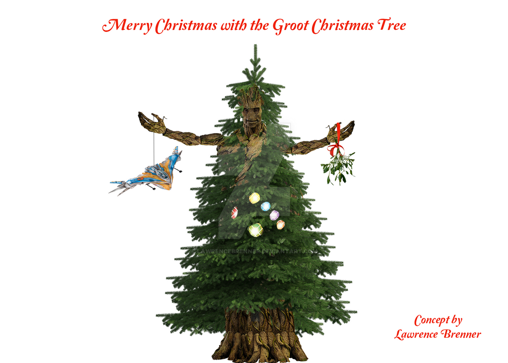 Groot Christmas Tree by lawrencebrenner