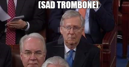Sad Trombone Mitch by lawrencebrenner