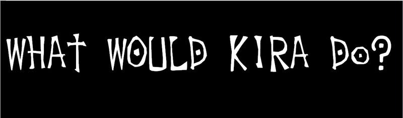 What Would Kira Do Bumper Sticker for Death Note