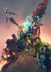 Xmen and Avengers by BryanValenza