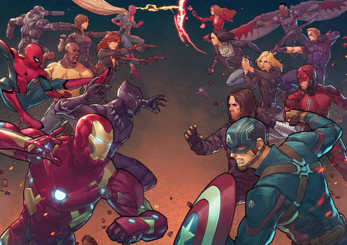 Civil War (What if?) by BryanValenza