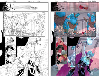 Marvel sample page_THOR 01 by BryanValenza