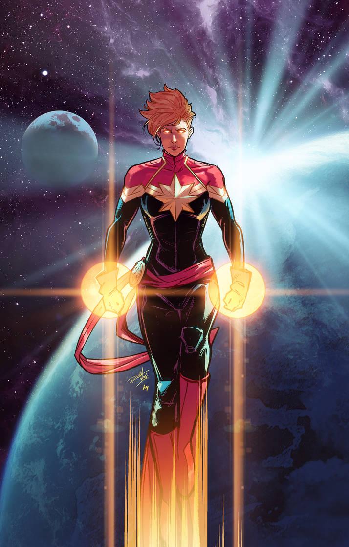 Captain Marvel by BryanValenza