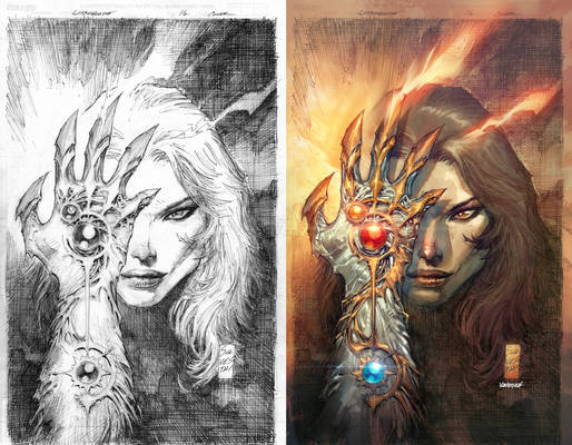 WITCHBLADE #1/2 Cover