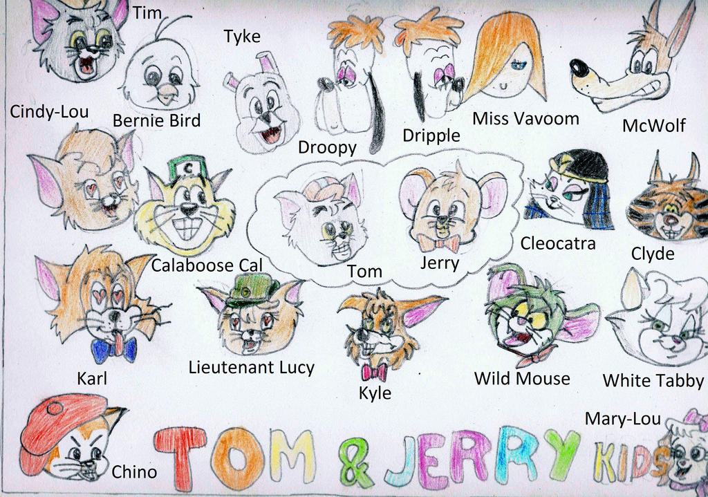The 20 Faces of Tom and Jerry Kids by Just-To-Look1