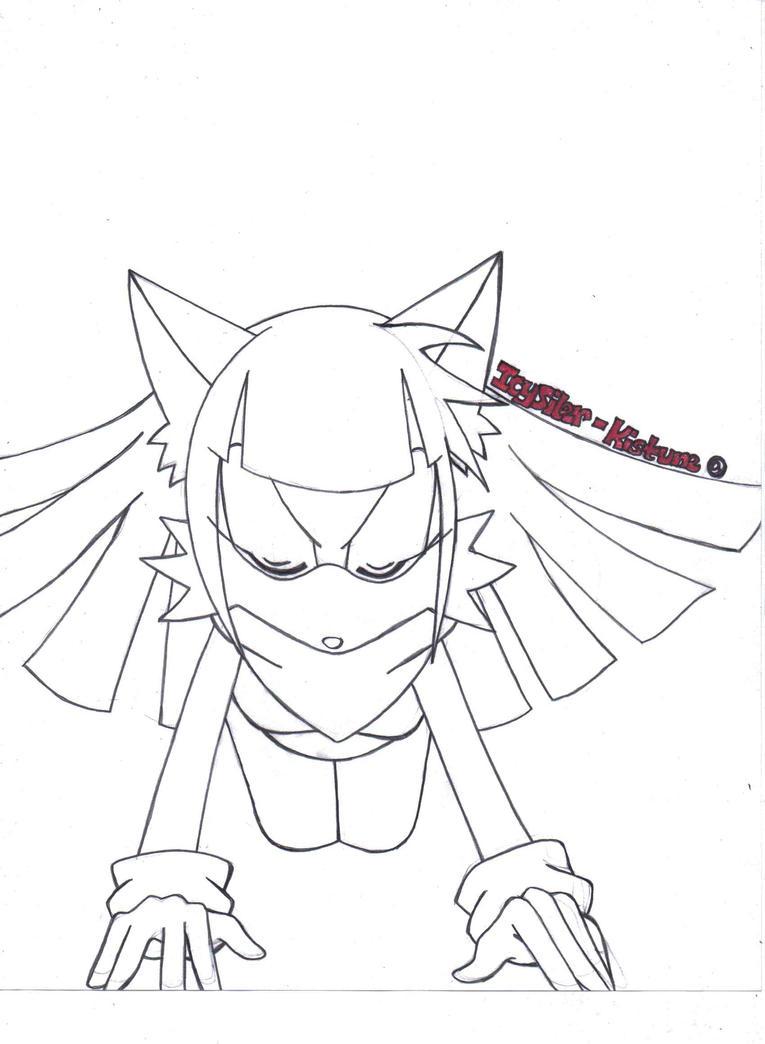 Free Anthro Kimiko Lineart by IcySilver-Kistune