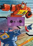 Blaster vs Soundwave Charticon Trading Card