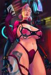 Sabrina Nichole cyberpunk by KHOBRA1981