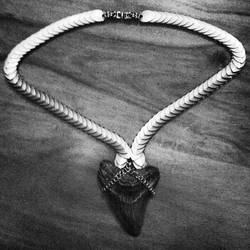 Megalodon Tooth by metalweavedesigns