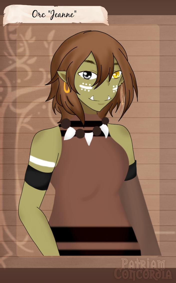 [PC] Species Swap Meme - Orc Jeanne by Kaitou-Alice