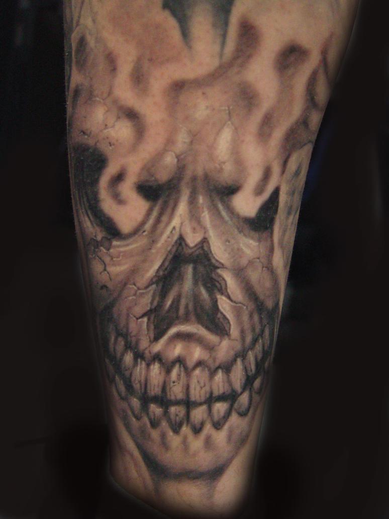 Smoke Skull Tattoos Smoking skull skeleton...