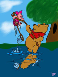 Winnie the Pooh and Piglet by InfinityandBeyond2