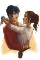 Kai and Cinder by taratjah