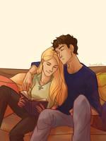 Sam and Celaena by taratjah