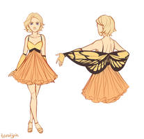 Cress Butterfly Dress by taratjah