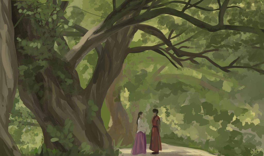 Forest scene by taratjah on deviantart for Forest scene drawing