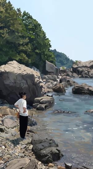 Woman Near the Water