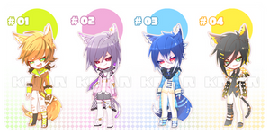 [AUCTION|CLOSE]WOLF CAT CHARACTER_ADOPT