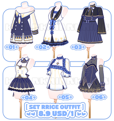 [SET PRICE|CLOSE]OUTFIT BATCH! by krianart