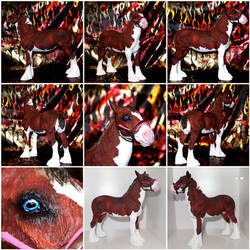 Traditional Clydesdale Filly Resin FOR SALE