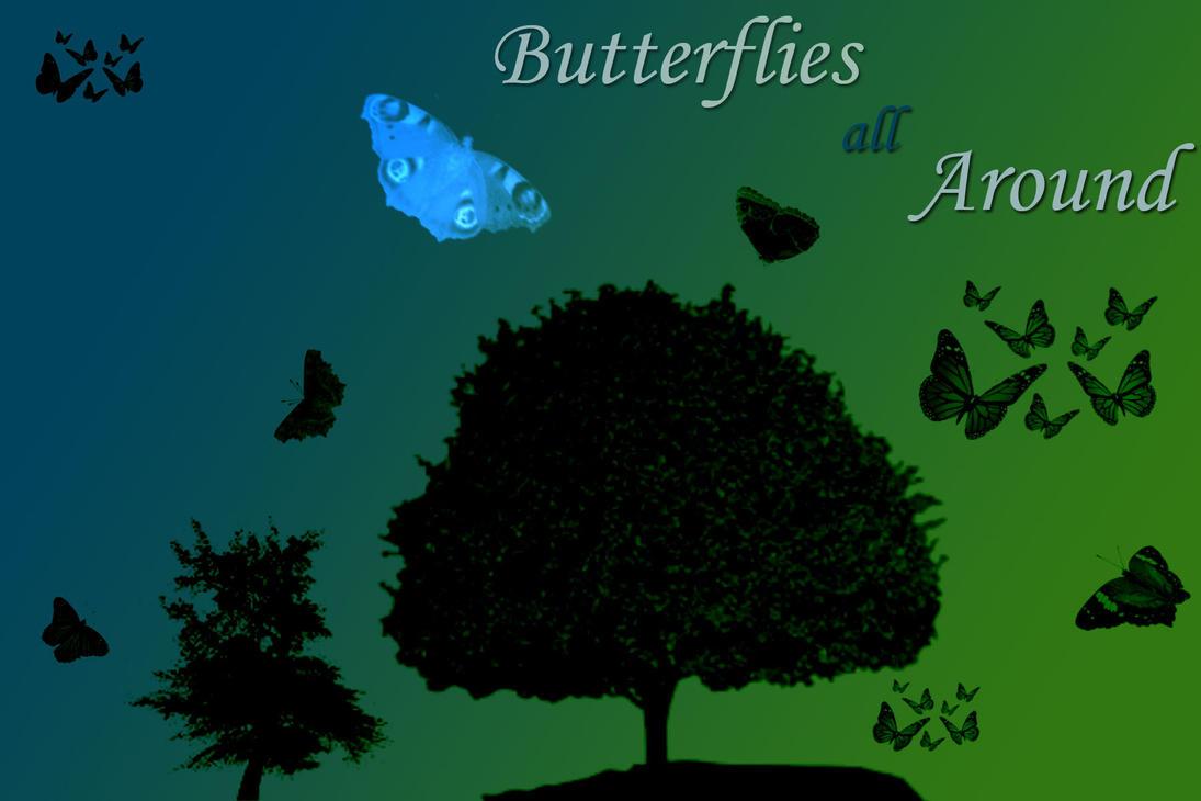 Butterflies All Around by Bickhamsarah