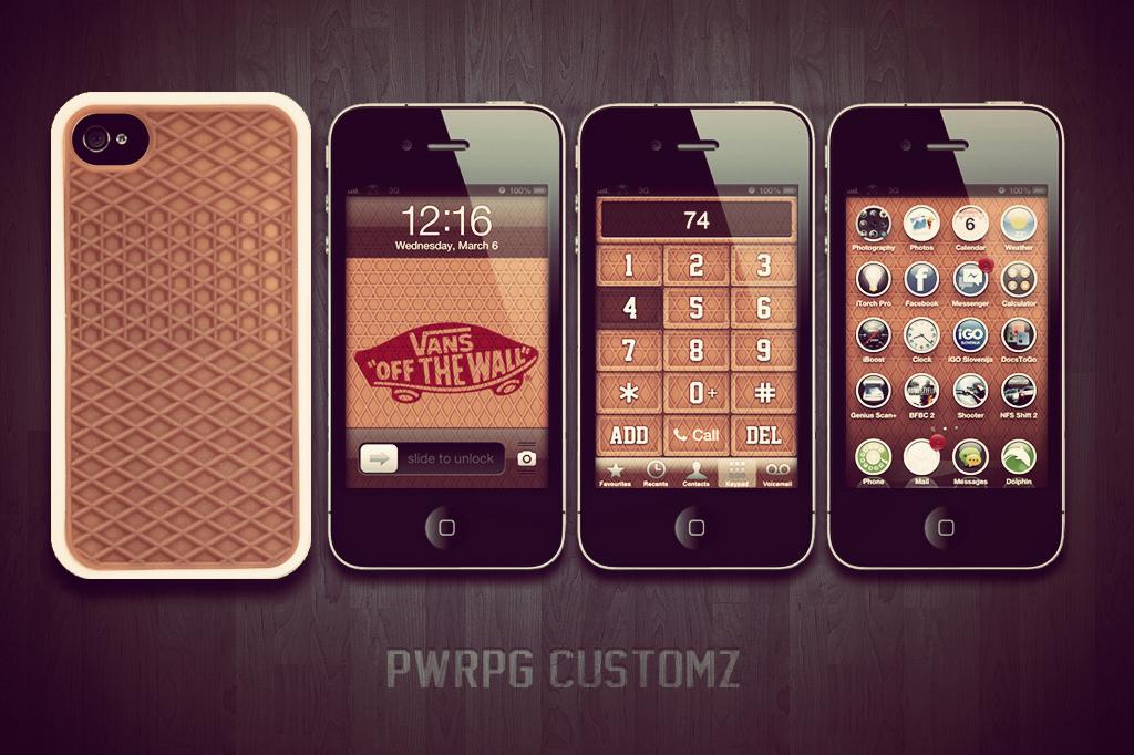 IPhone 4 Vans Customz Dialer Lock Screen