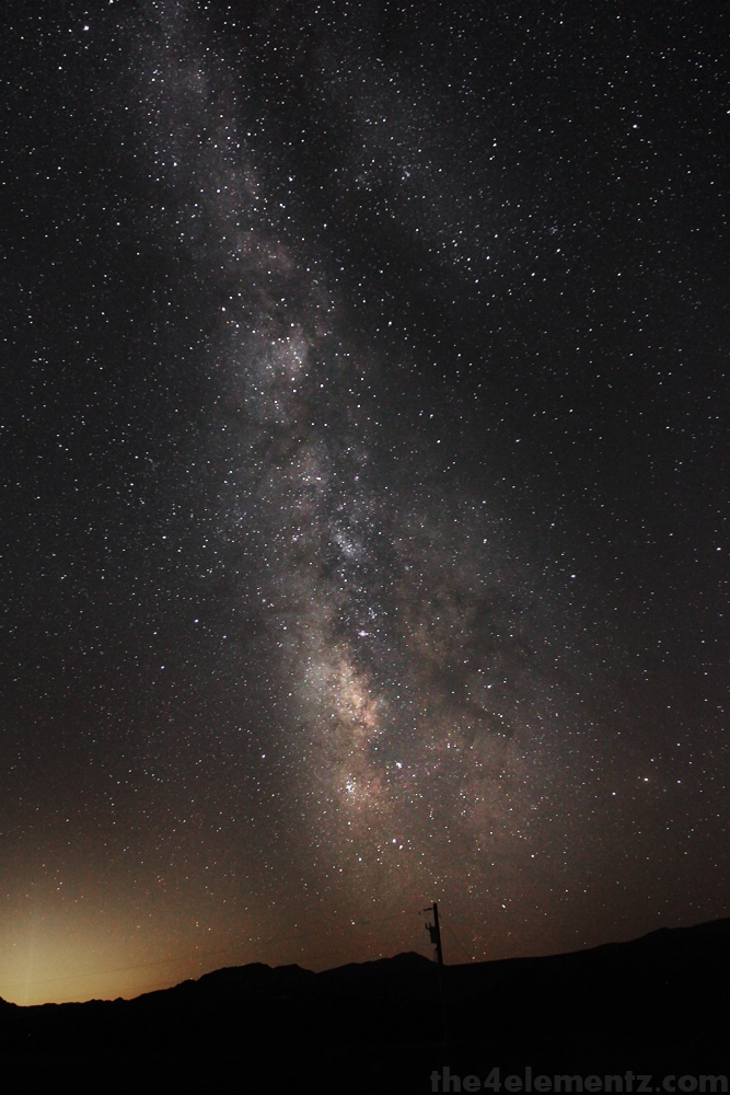 The Glow of Las Vegas and the Milky Way by kristoff
