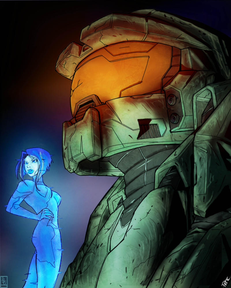 Master Cheif And Cortana By JaredGrammer On DeviantArt