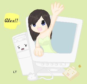 Coming out of Alex's computer by Perbaynii